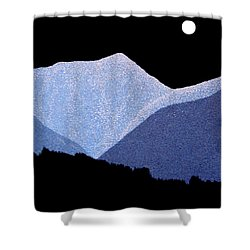 Shower Curtain featuring the painting Kootenay Mountains by Janice Dunbar