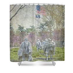 Korean War Veterans Memorial Washington Dc Beautiful Unique   Shower Curtain