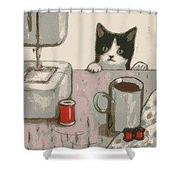 Crafty Cat #2 Shower Curtain