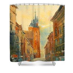 Krakow Florianska Street Shower Curtain