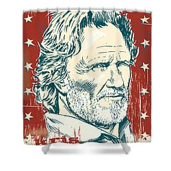 Kris Kristofferson Pop Art Shower Curtain by Jim Zahniser
