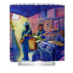 Kris Lager Band At Sanchos Broken Arrow Shower Curtain