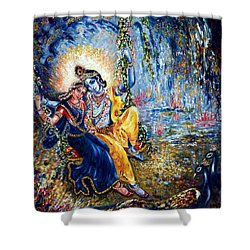 Krishna Leela Shower Curtain