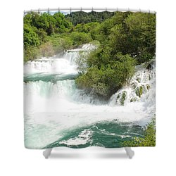 Krka Waterfalls Croatia Shower Curtain