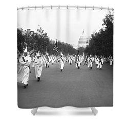 Ku Klux Klan Parade Shower Curtain