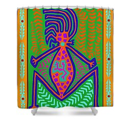 Kuna Indian Mother Earth Shower Curtain