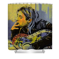 Kurt Cobain Shower Curtain by Corporate Art Task Force
