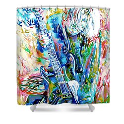 Kurt Cobain Portrait.1 Shower Curtain by Fabrizio Cassetta