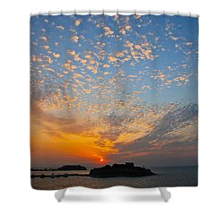 Kusadasi Sunset Shower Curtain by Eric Tressler