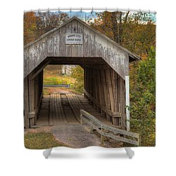 Ky Hillsboro Or Grange City Covered Bridge Shower Curtain by Jack R Perry