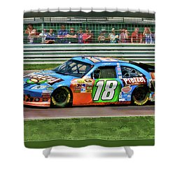 Kyle Busch Shower Curtain