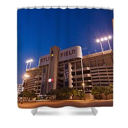 Kyle Field Blue Hour Shower Curtain by Linda Unger