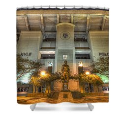 Kyle Field Shower Curtain by David Morefield