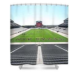 Kyle Field Shower Curtain by Georgia Fowler