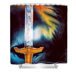 Kyle's Sword Shower Curtain