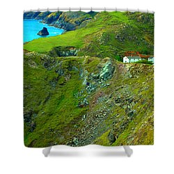 Shower Curtain featuring the photograph Kynance Cove by Rachel Mirror