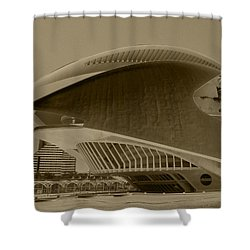 Shower Curtain featuring the photograph L' Hemisferic - Valencia by Juergen Weiss