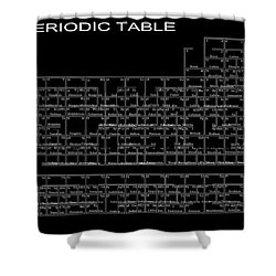 L S D Periodic Table Shower Curtain by Daniel Hagerman