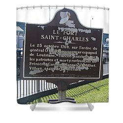 La-013 Le Fort Saint-charles Shower Curtain by Jason O Watson