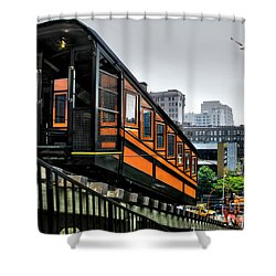 Los Angeles Angels Flight Shower Curtain by Jennie Breeze