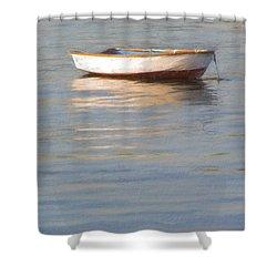 La Barque Au Crepuscule Shower Curtain by Jean-Pierre Ducondi