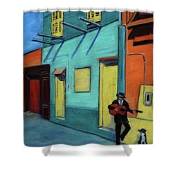 La Boca Morning II Shower Curtain
