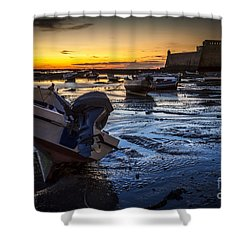 La Caleta Beach Cadiz Spain Shower Curtain
