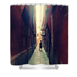 Shower Curtain featuring the photograph La Cameriera  by Micki Findlay