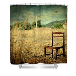 La Chaise Shower Curtain by Taylan Apukovska