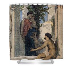 La Charite Romaine Shower Curtain by William Bouguereau