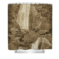 La Coca Falls El Yunque National Rainforest Puerto Rico Prints Vintage Shower Curtain by Shawn O'Brien