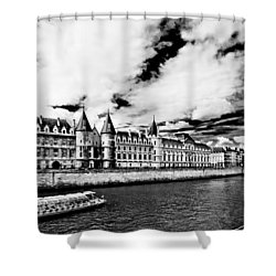 Shower Curtain featuring the photograph La Conciergerie / Paris by Barry O Carroll