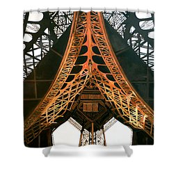 Shower Curtain featuring the painting La Dame De Fer by Tom Roderick