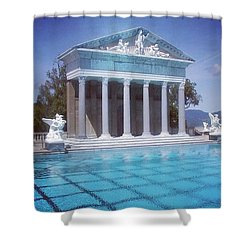 La Dolce Vita At Hearst Castle - San Simeon Ca Shower Curtain by Anna Porter