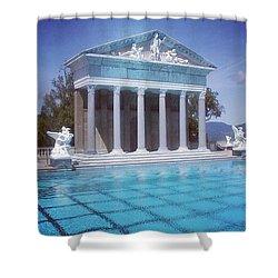 La Dolce Vita At Hearst Castle - San Simeon Ca Shower Curtain
