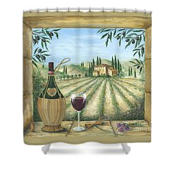 La Dolce Vita Shower Curtain by Marilyn Dunlap