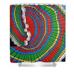 Shower Curtain featuring the painting La Falda Girando - The Spinning Skirt by Katherine Young-Beck