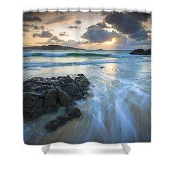 La Fragata Beach Galicia Spain Shower Curtain by Pablo Avanzini