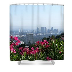 Shower Curtain featuring the photograph L.a. From Beverly Hills by Dany Lison