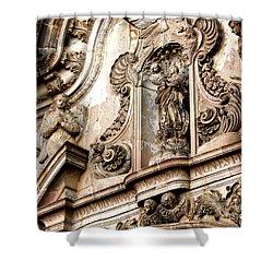 Shower Curtain featuring the photograph La Iglesia De La Compania  Quito Ecuador by Eleanor Abramson