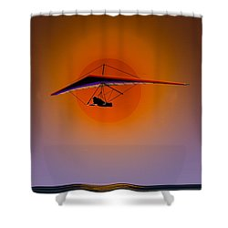 La Jolla Evening Shower Curtain by J Griff Griffin