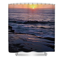 La Jolla Sunset Reflection Shower Curtain
