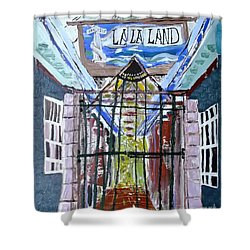 Shower Curtain featuring the painting La La Land  by Leslie Byrne