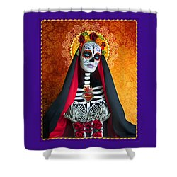La Muerte Shower Curtain by Tammy Wetzel