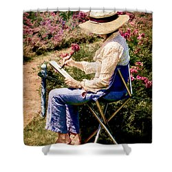 Shower Curtain featuring the photograph La Peintre by Chris Lord