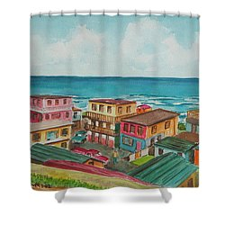 La Perla San Juan Pr Shower Curtain