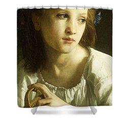 La Petite Ophelie Shower Curtain by William Adolphe Bouguereau