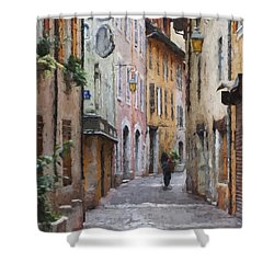 La Pietonne A Annecy - France Shower Curtain