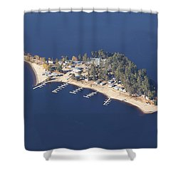 La Pointe A David Shower Curtain