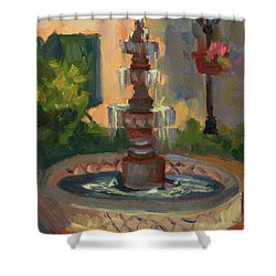 La Quinta Resort Fountain Shower Curtain